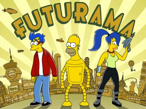 Simpsons in Futurama