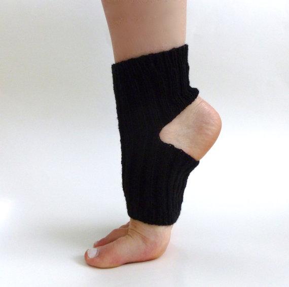 Hand-knit Toeless Socks