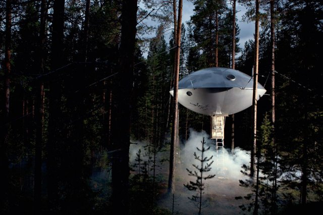 The UFO by Inredningsgruppen at Treehotel – Harads, Sweden