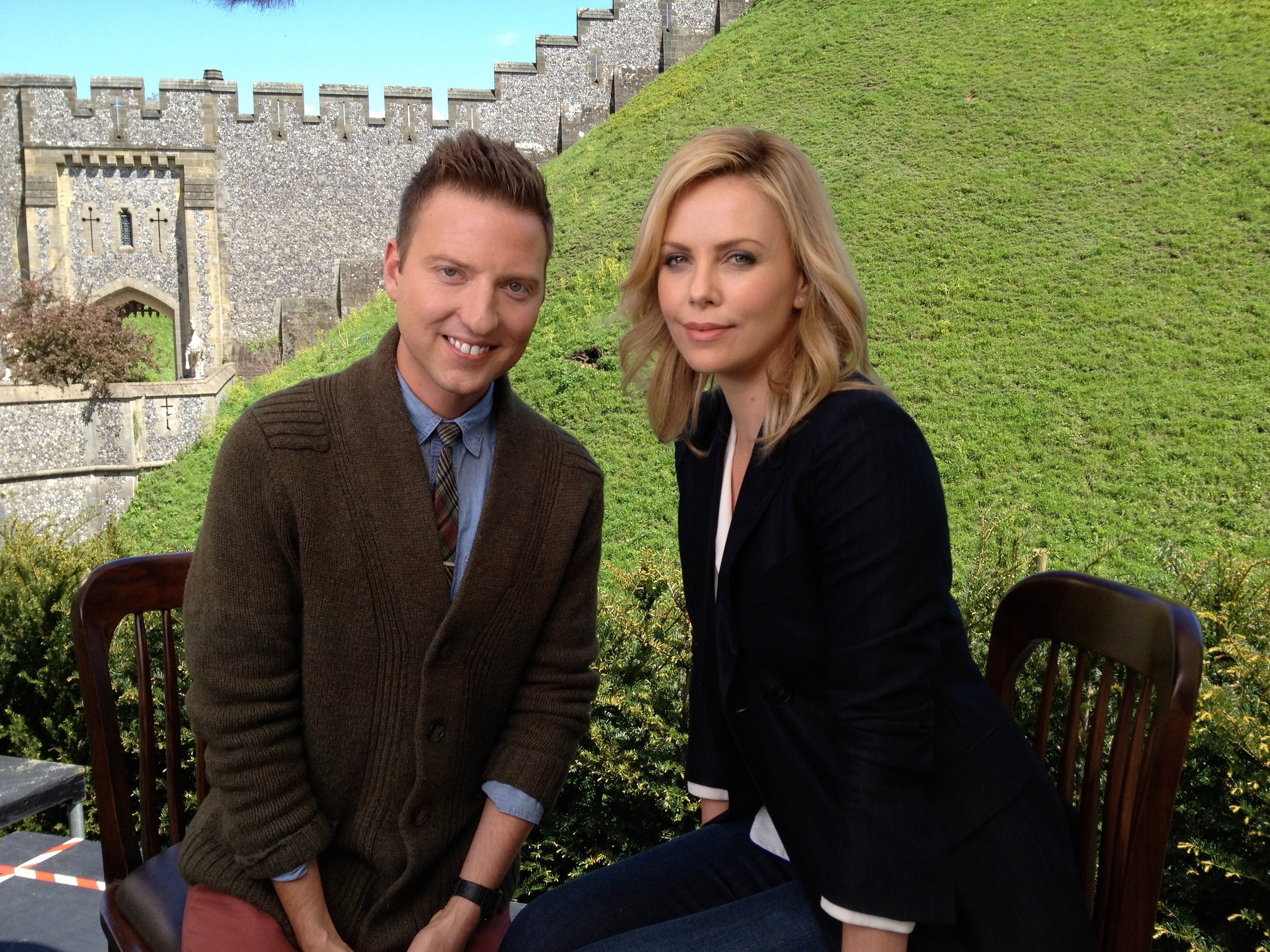 Chris with Charlize Theron