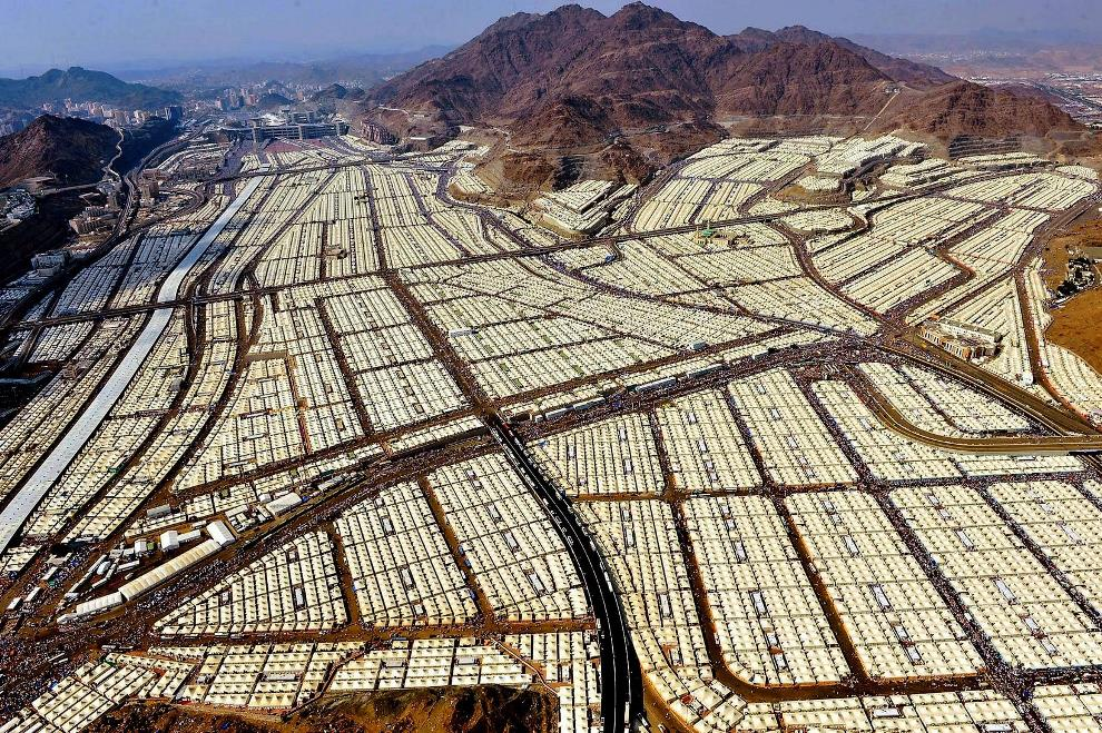 The tent city in Mecca during the Hajj