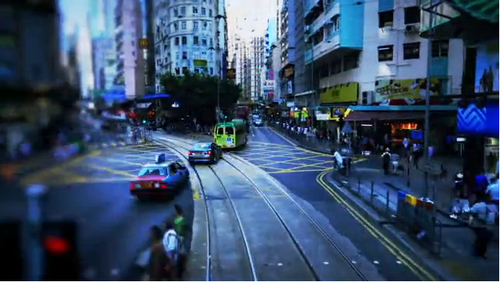 Tilt-shifted Hong Kong Timelapse