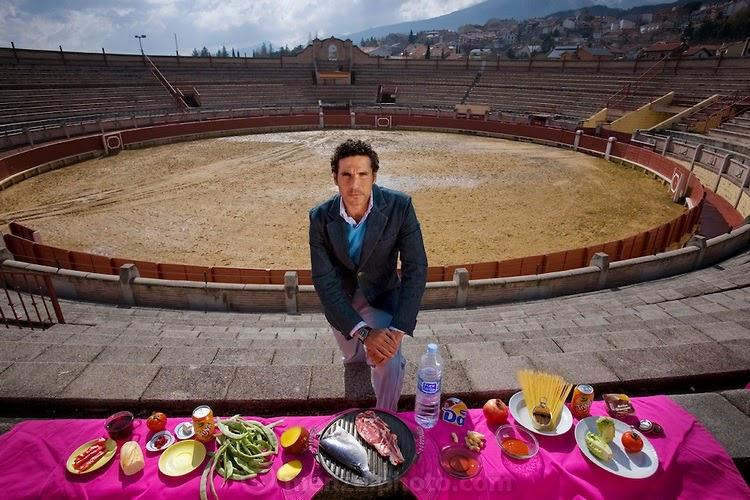 Oscar Higares, a professional bullfighter in Miraflores De La Sierra, Spain.