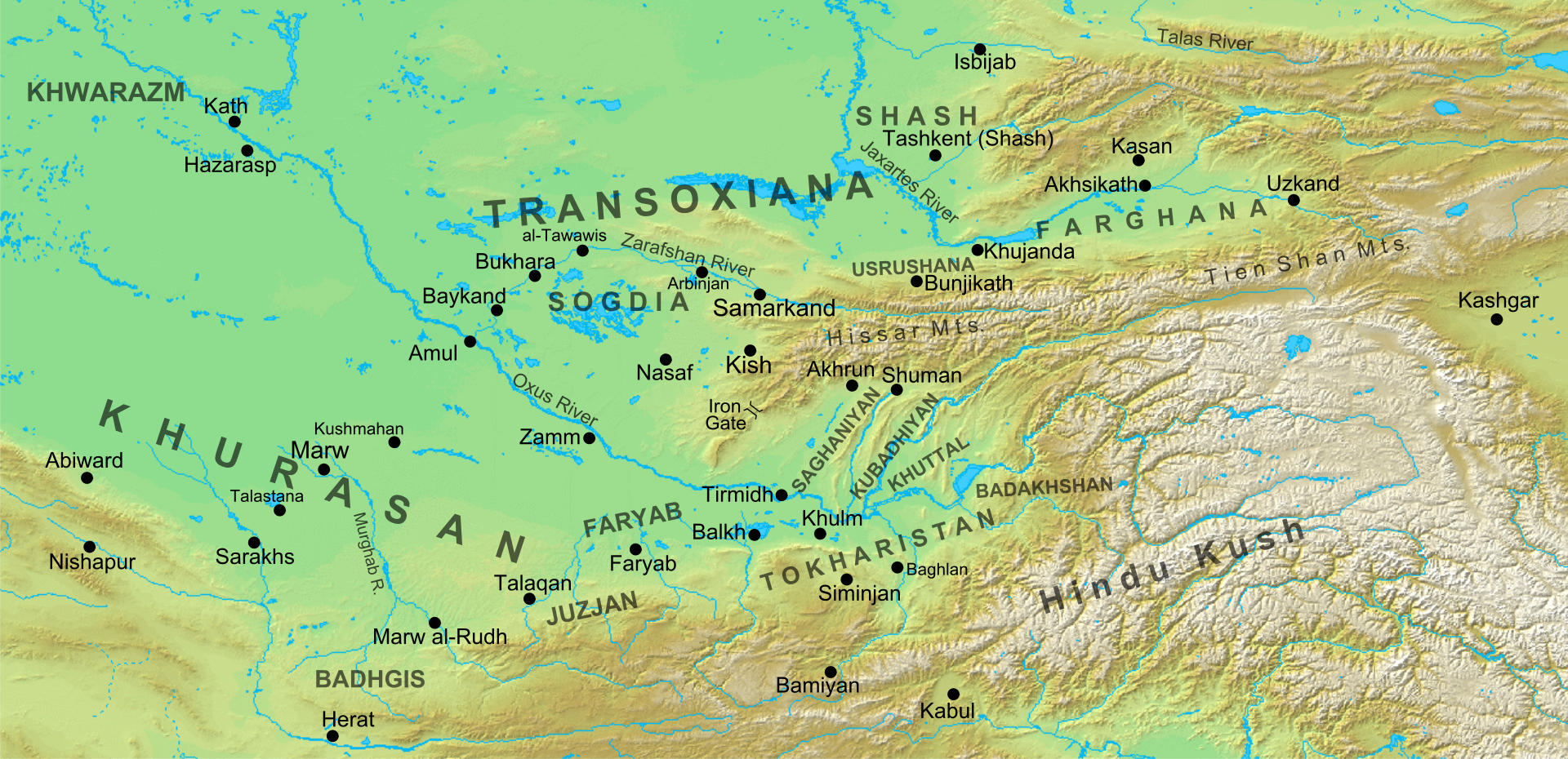 The Battle of Talas in 751 CE