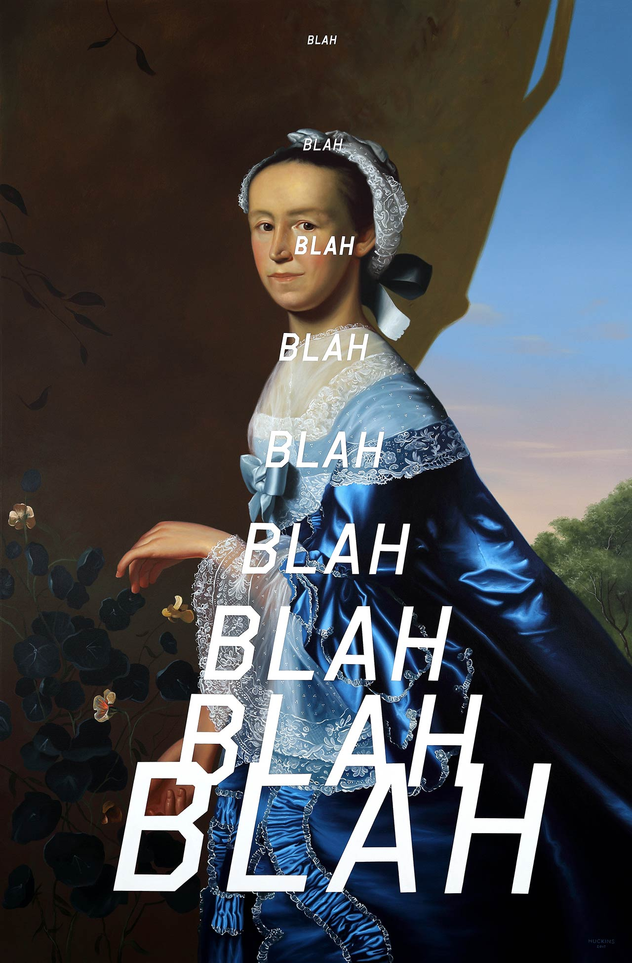 Mrs James Warren: Blah Blah Blah, 2017. Acrylic