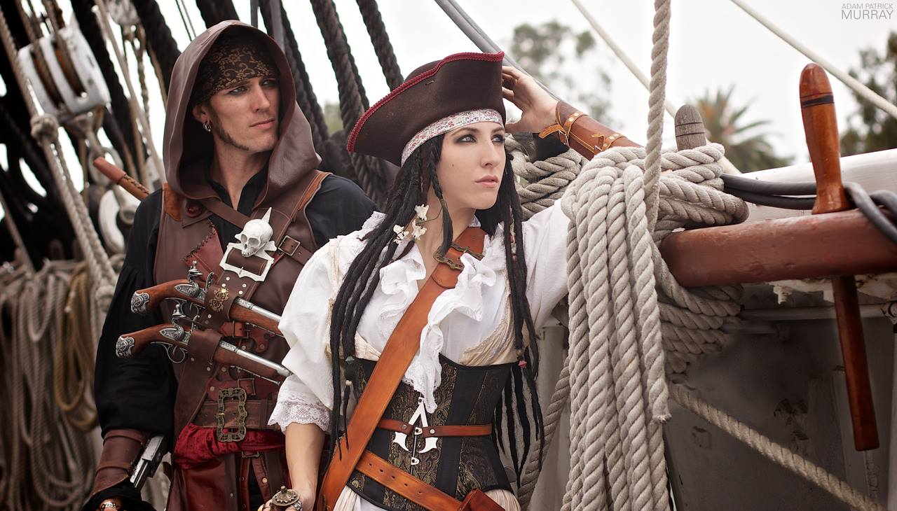 Anna Von Winter and Thomas Boyer as Assassins Creed pirates