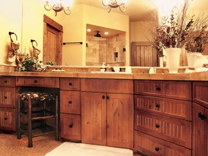 His-and-hers bathroom vanity areas