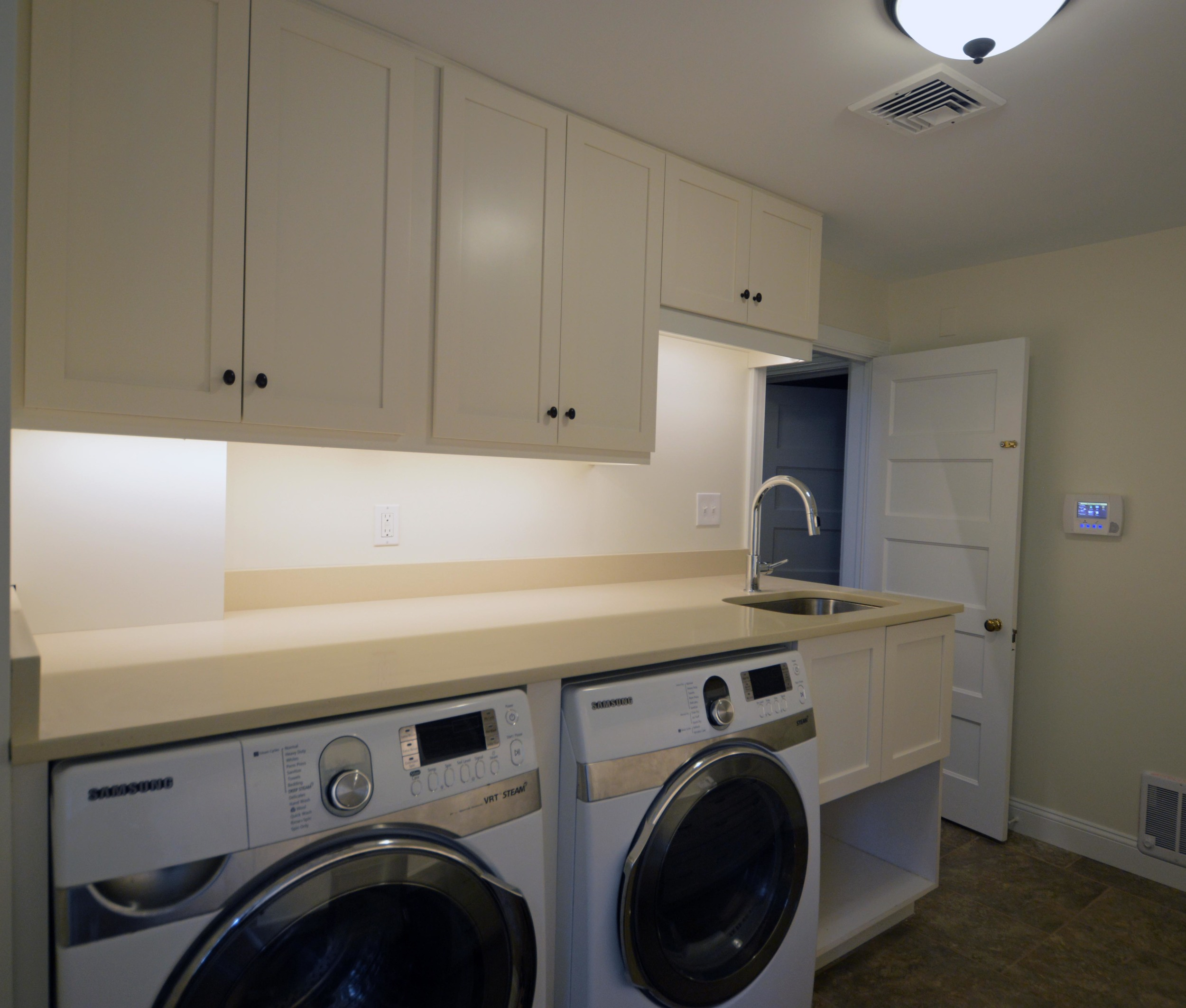 Custom laundry room and home office in Merion Station, PA