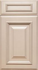 Elmwood Roxborough Cabinet Door in warm concrete oyster paint