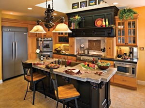 Although this is not an enormous kitchen, note how well the zones are laid out.