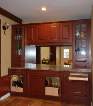 This Canyon Creek buffet combines form and function: it's a beverage station as well as a storage unit.
