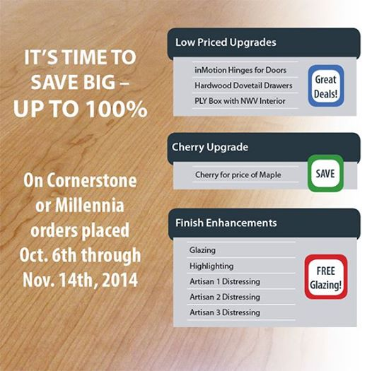 Score big savings today on your Canyon Creek Cabinet order.
