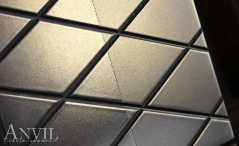 Diamond Pattern Engraved in Metal Countertop