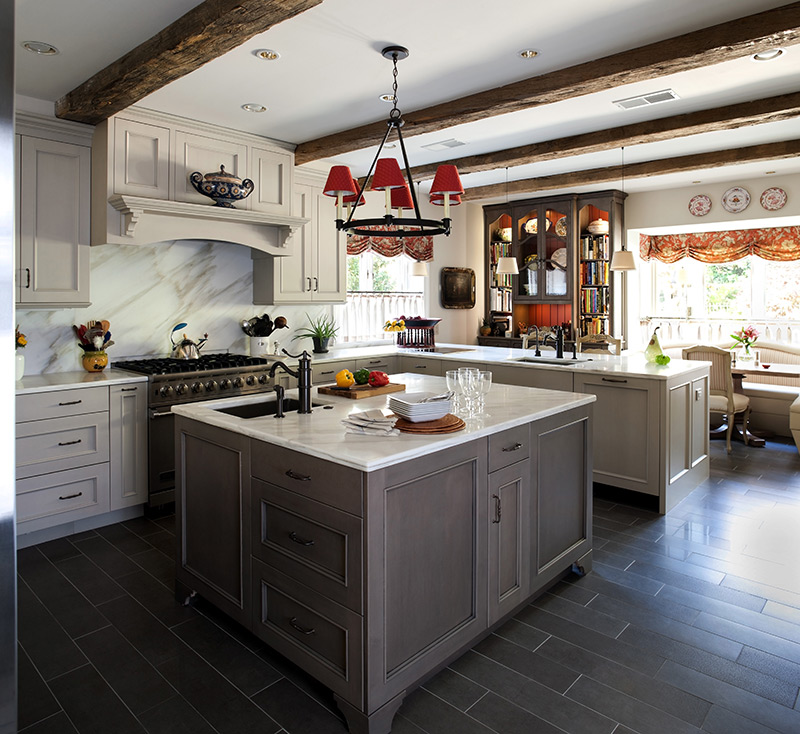 an elmwood grey-toned kitchen