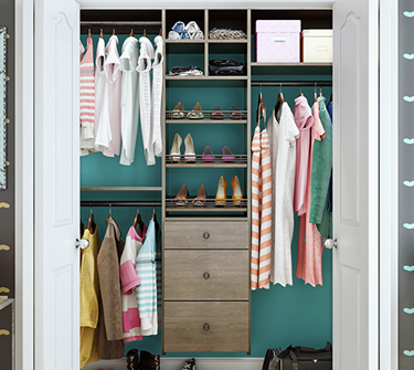 Closets Plus   is Canyon Creek's custom storage solutions for closets of every shape and size – with all of the accessories you need to get your home organized.