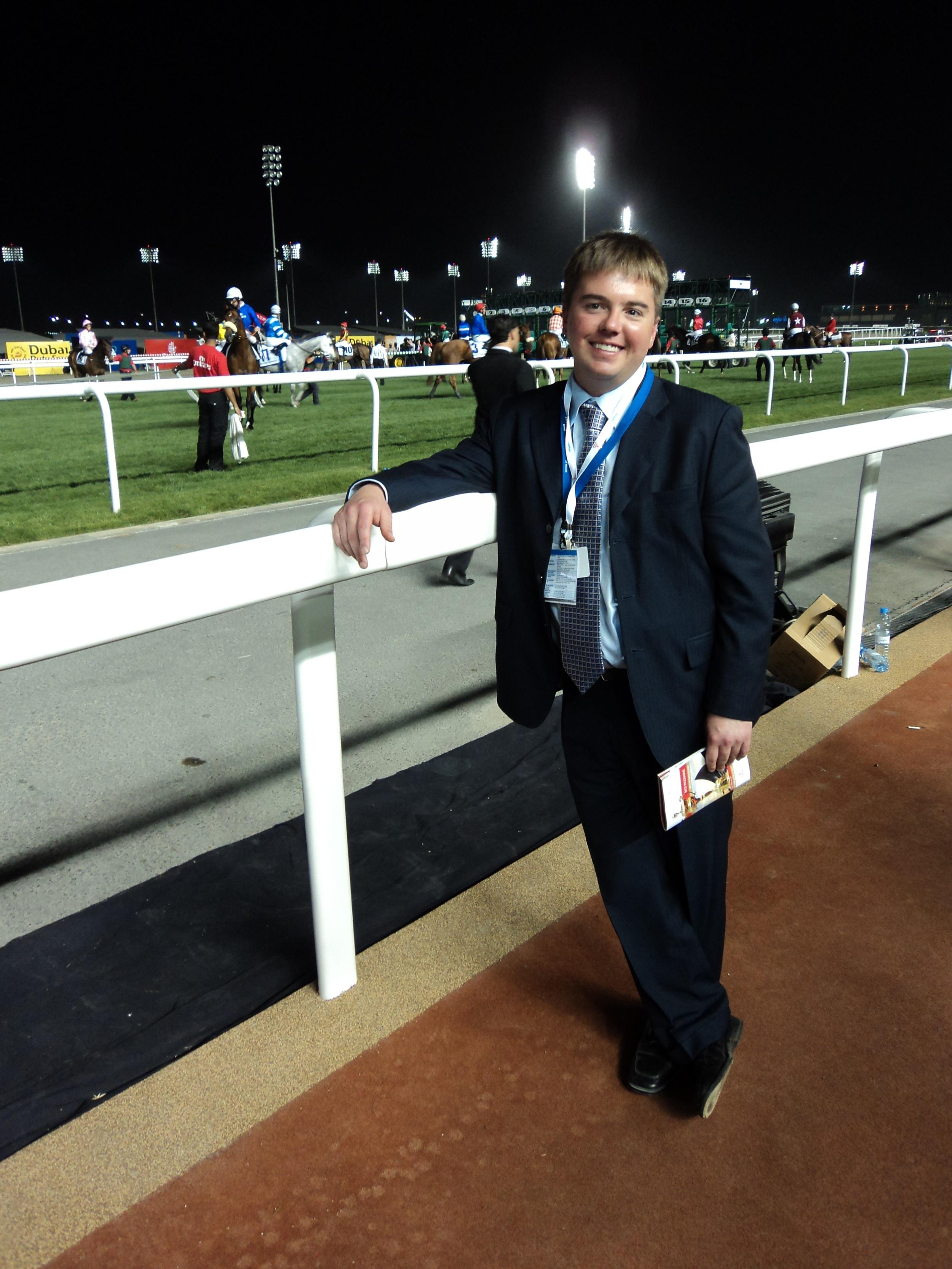 Conor at the races in Dubai