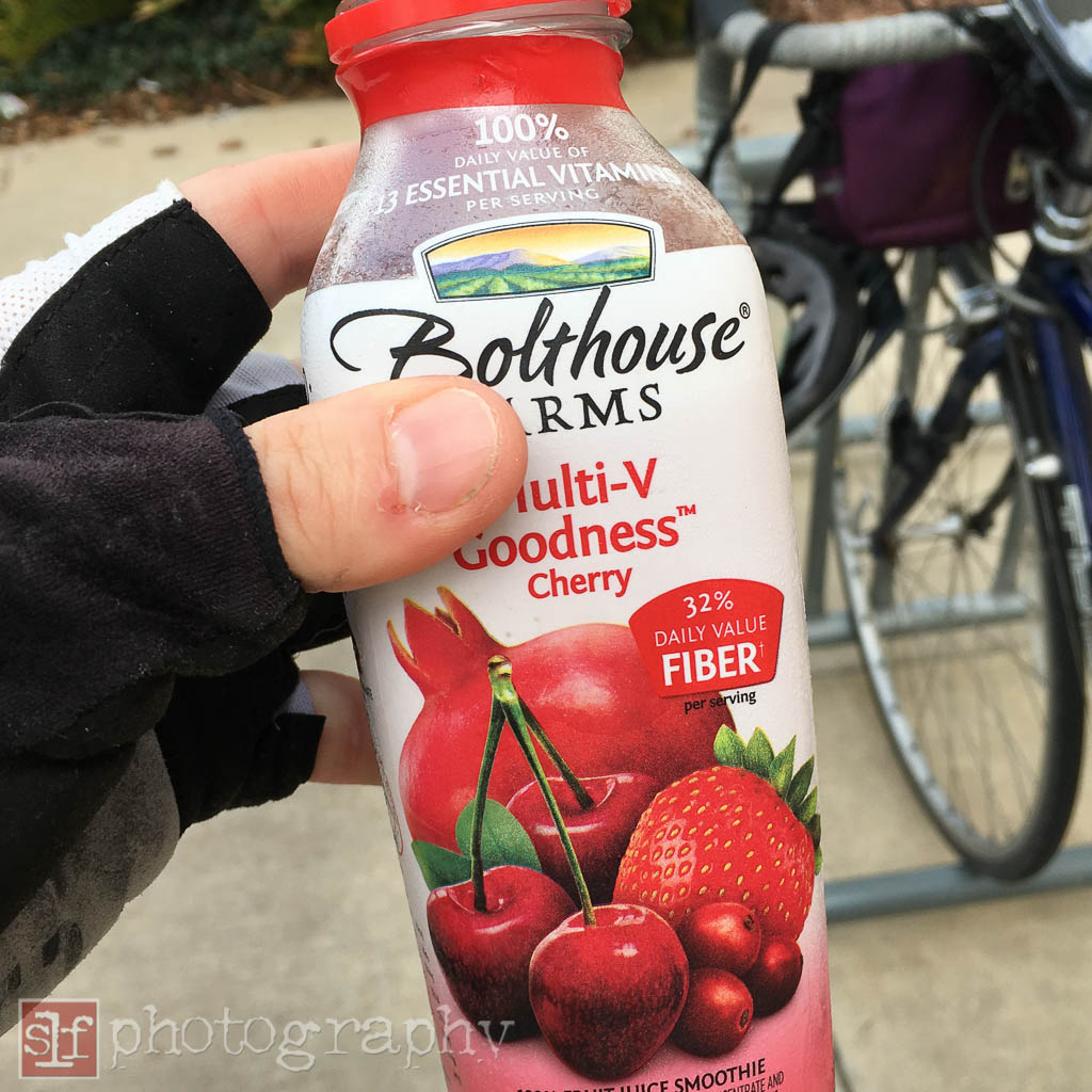 This stuff was thicker than juice but thinner than a smoothie. It was odd.