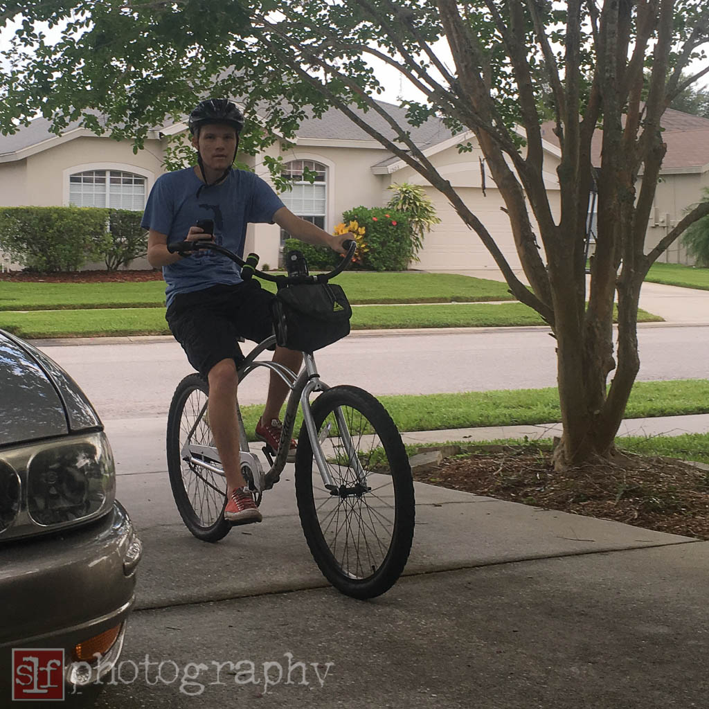 ryan was happy to be out of school and ride everyday