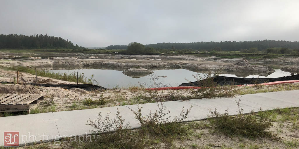 this pond was drained for weeks so they could reshape it. how long will it take to fill it back up?