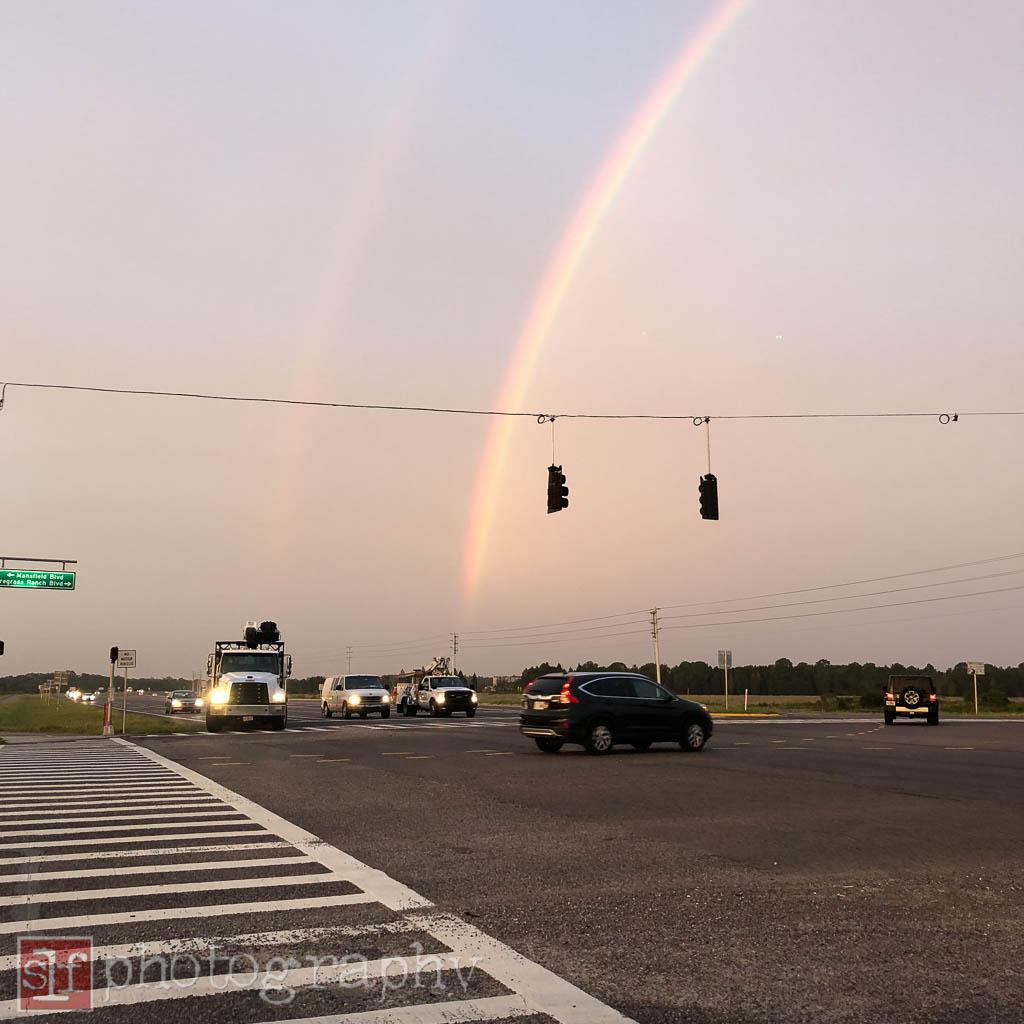 rainbow looking west along sr56