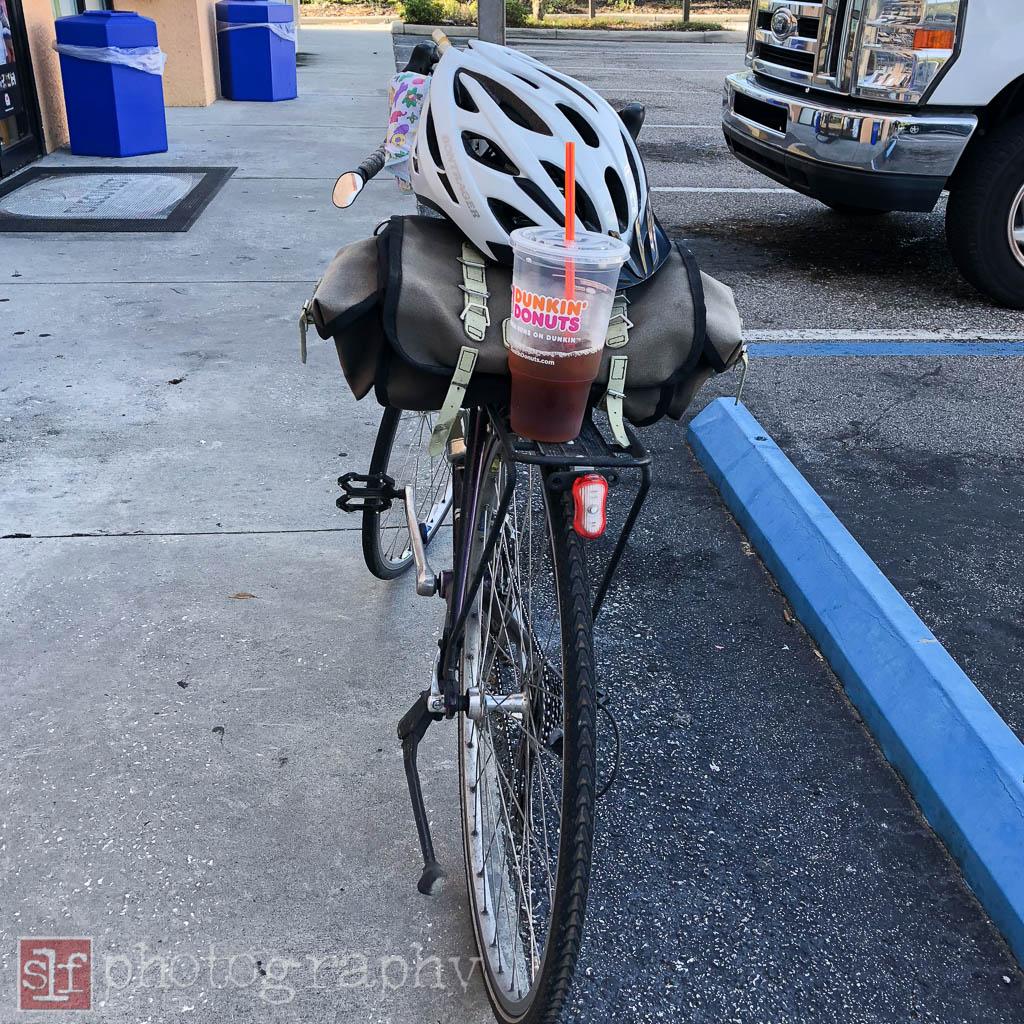 I locked my bike up to a sign pole