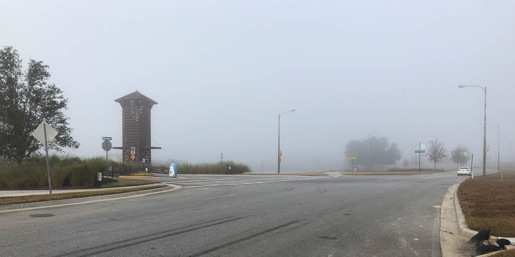 very foggy ride in union park