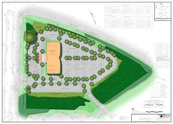 9611 Lottsford Road Site Plan - Click for Enlarged Version