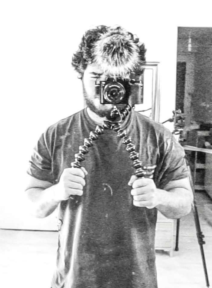 Me and the lovely little Gorillapod Focus. I'm starting to wonder if I've ever used a nicer shoulder rig setup than this.