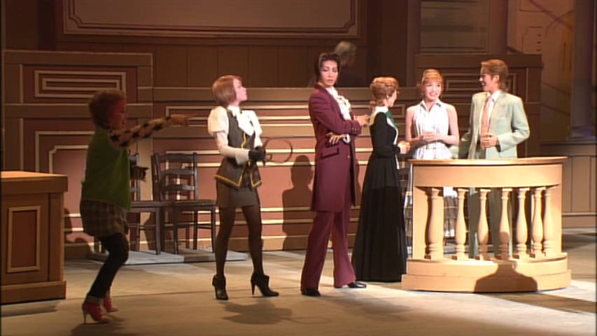 Some of the main cast gathered in the court room.