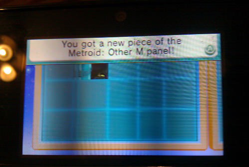 Getting a new piece for the Metroid: Other M panel in Puzzle Swap.