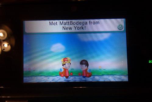 Encountering Matt Kessler's Mii in Puzzle Swap.