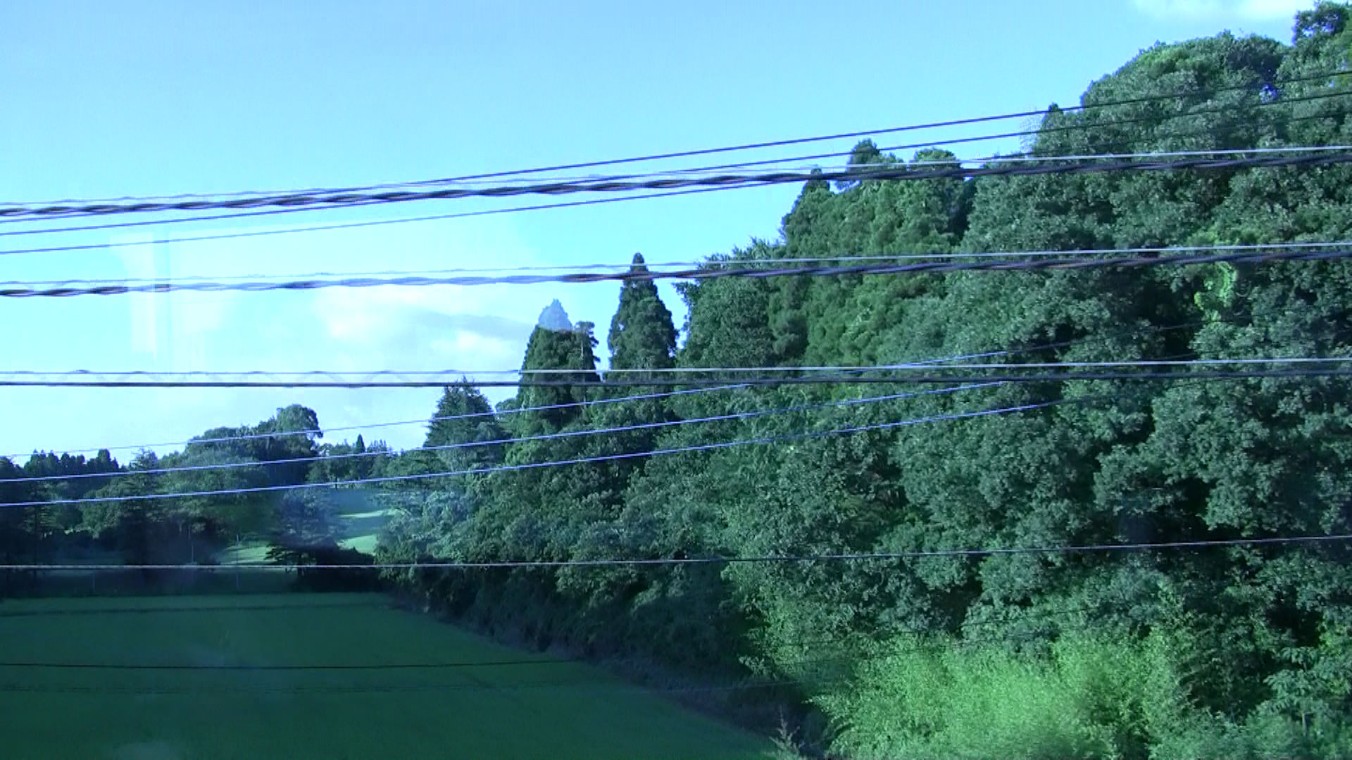 The view outside the Narita Express on our way to Shinagawa Station.