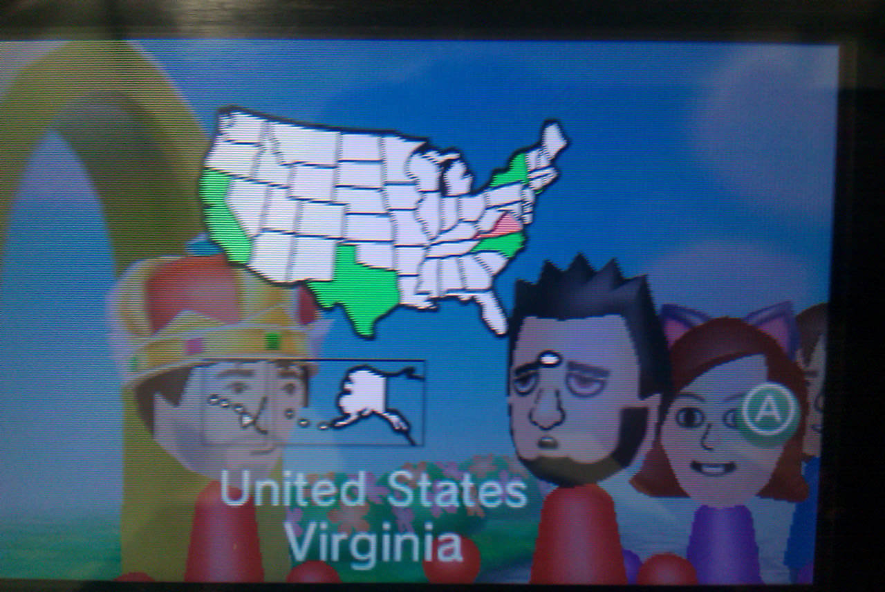 The 3DS highlighting where Max is from.