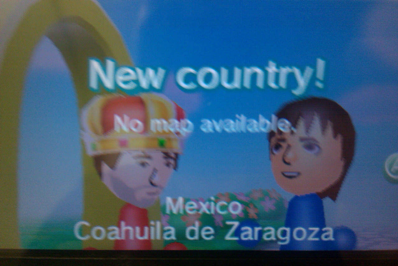The 3DS telling me they don't have a map available for Mexico.