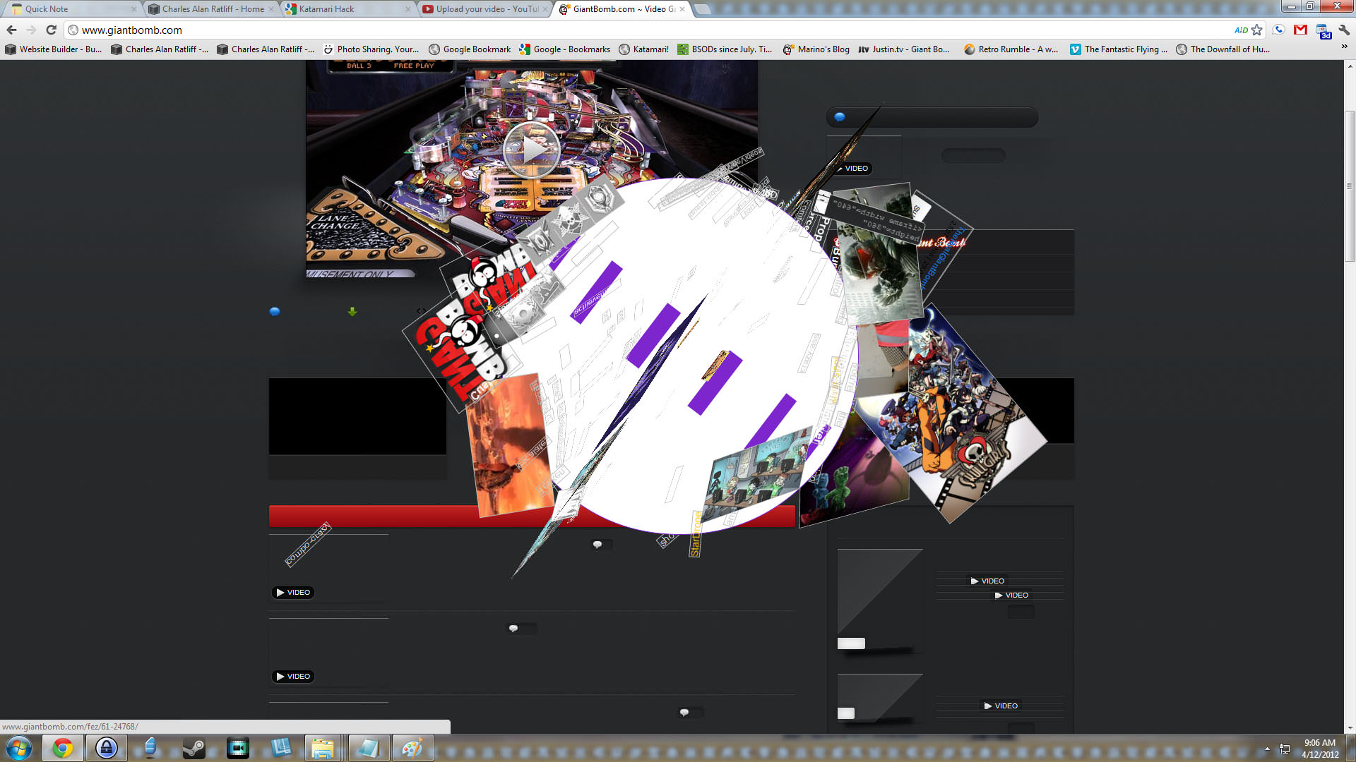 Using Katamari Hack on Giant Bomb.