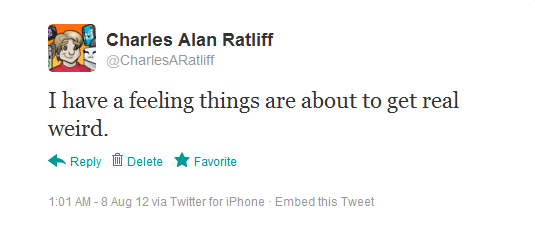 The post I made on Twitter on August 8th, 2012.