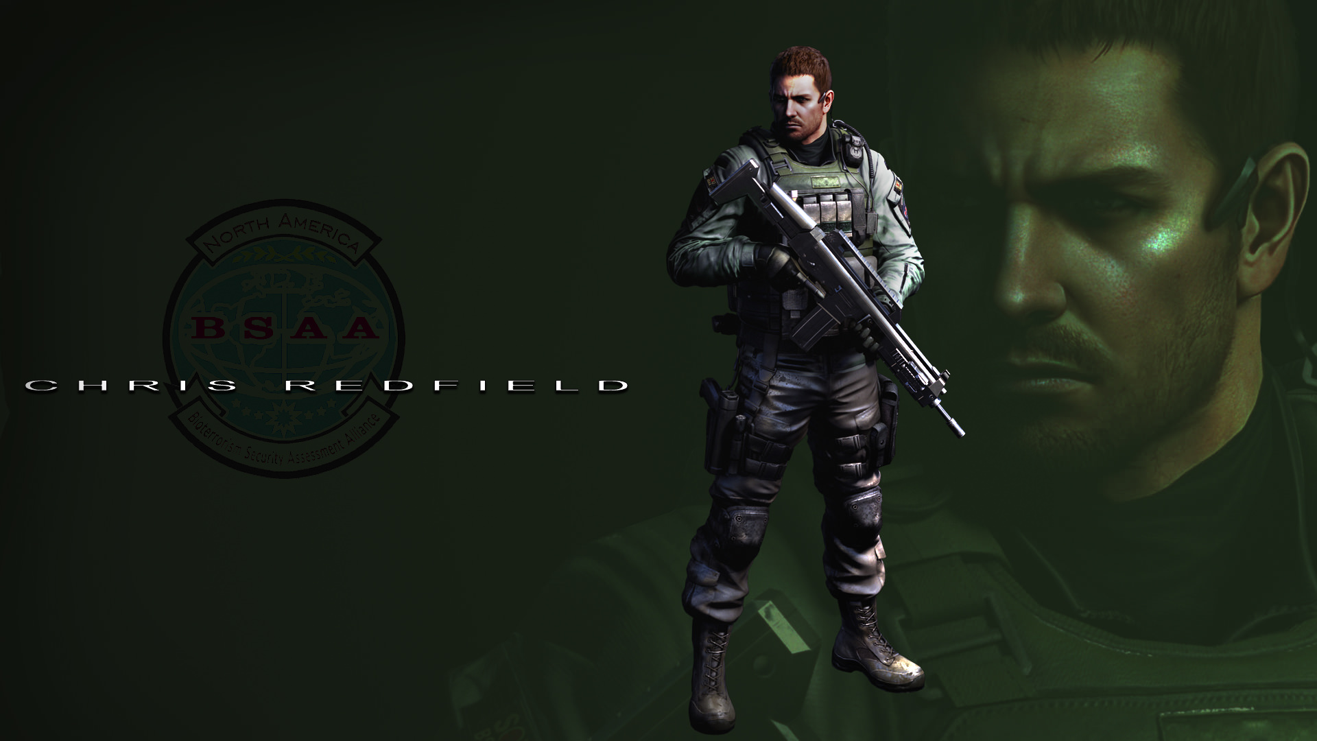 Chris Redfield - Resident Evil 6 Wallpaper by  FadedBlackangel
