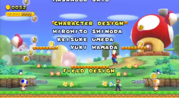 New Super Mario Bros. U credits