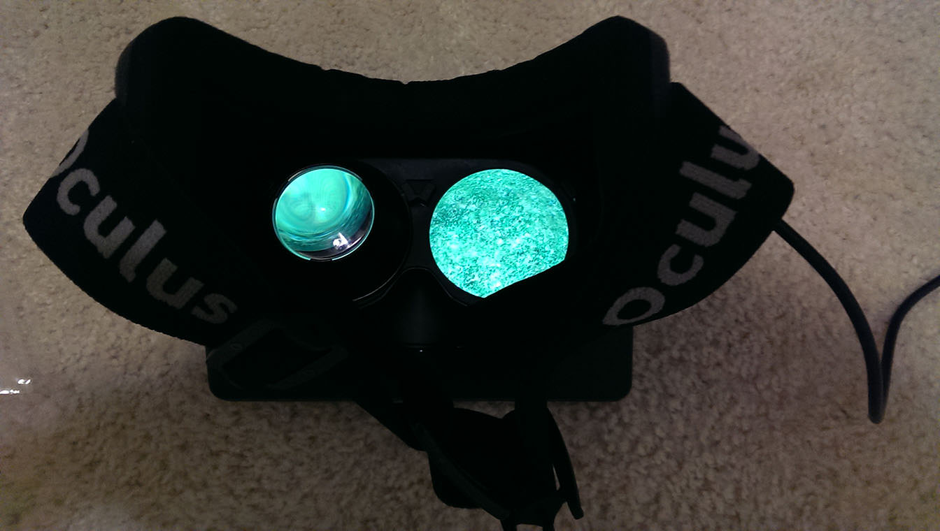 Oculus Rift with lens removed