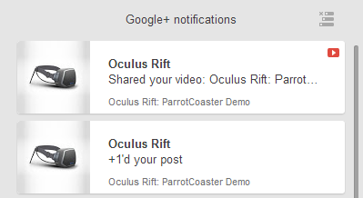 The Oculus Rift team sharing my work