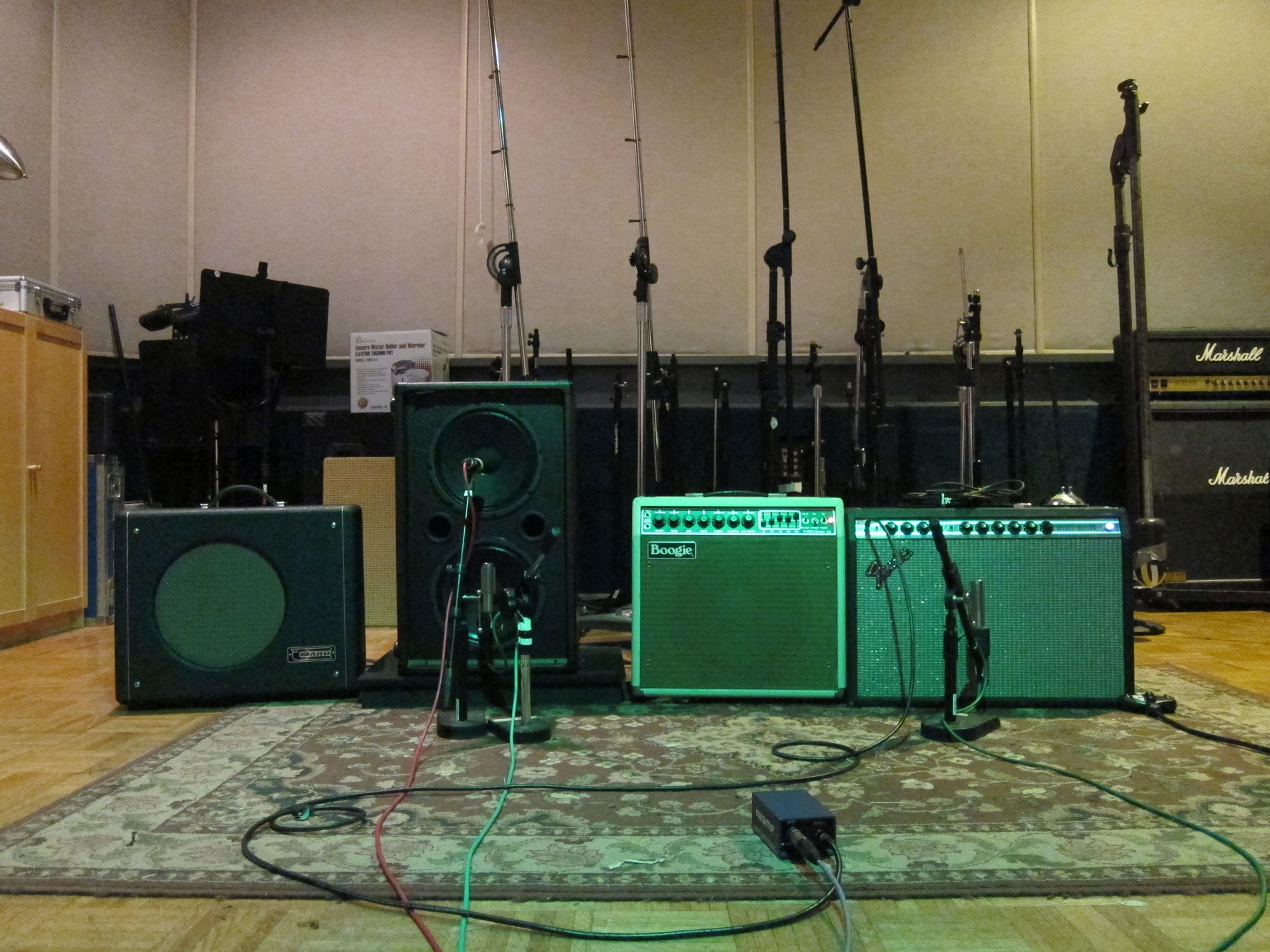 2.27.11 - Reamping guitars for The Leaving and Old Wounds Still Bleed