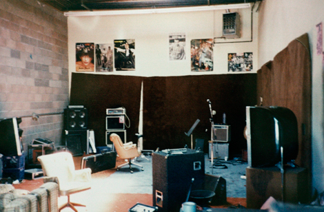 Our rehearsal/recording studio in Redwood City.