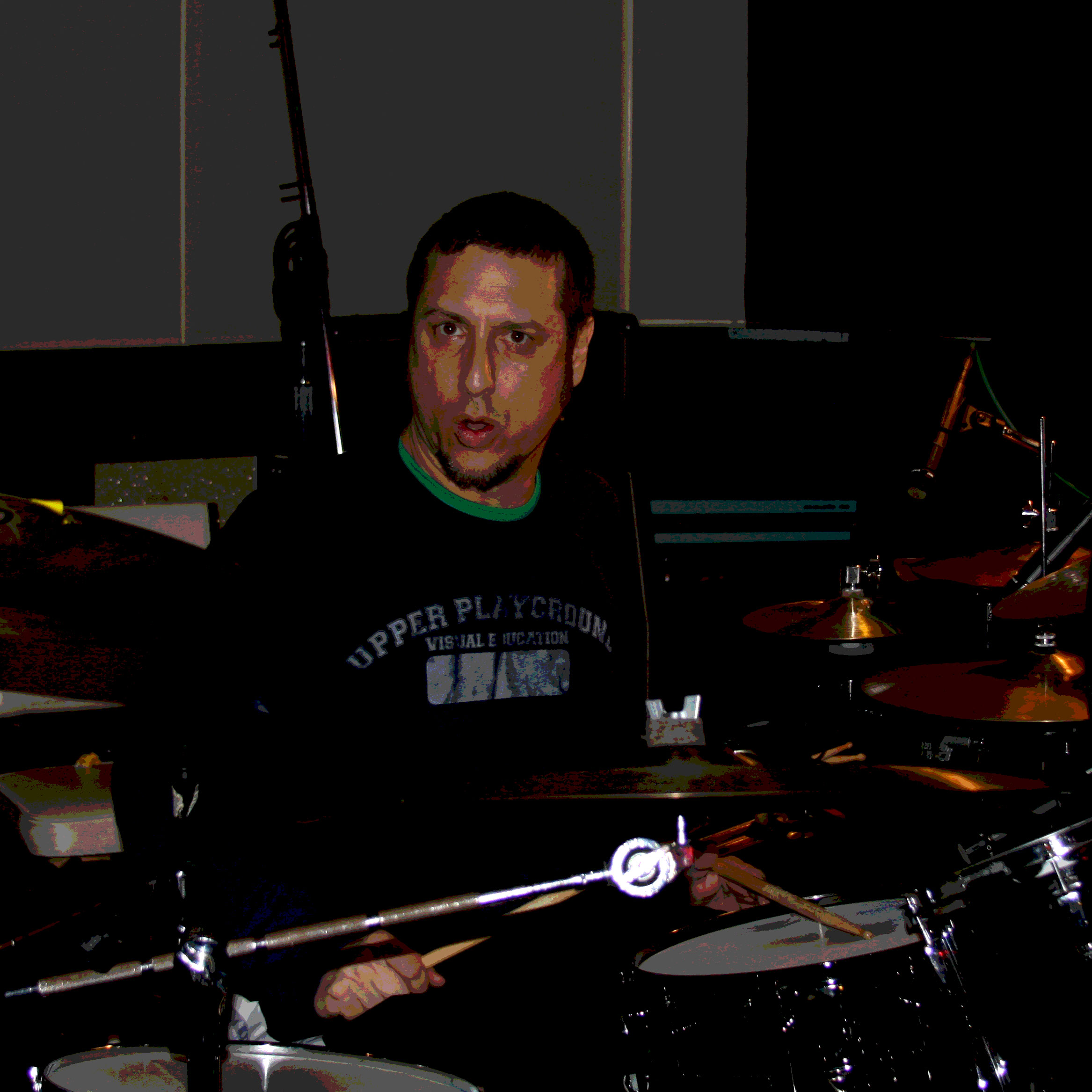 Andy Korn about to beat the living shit out of his drums.
