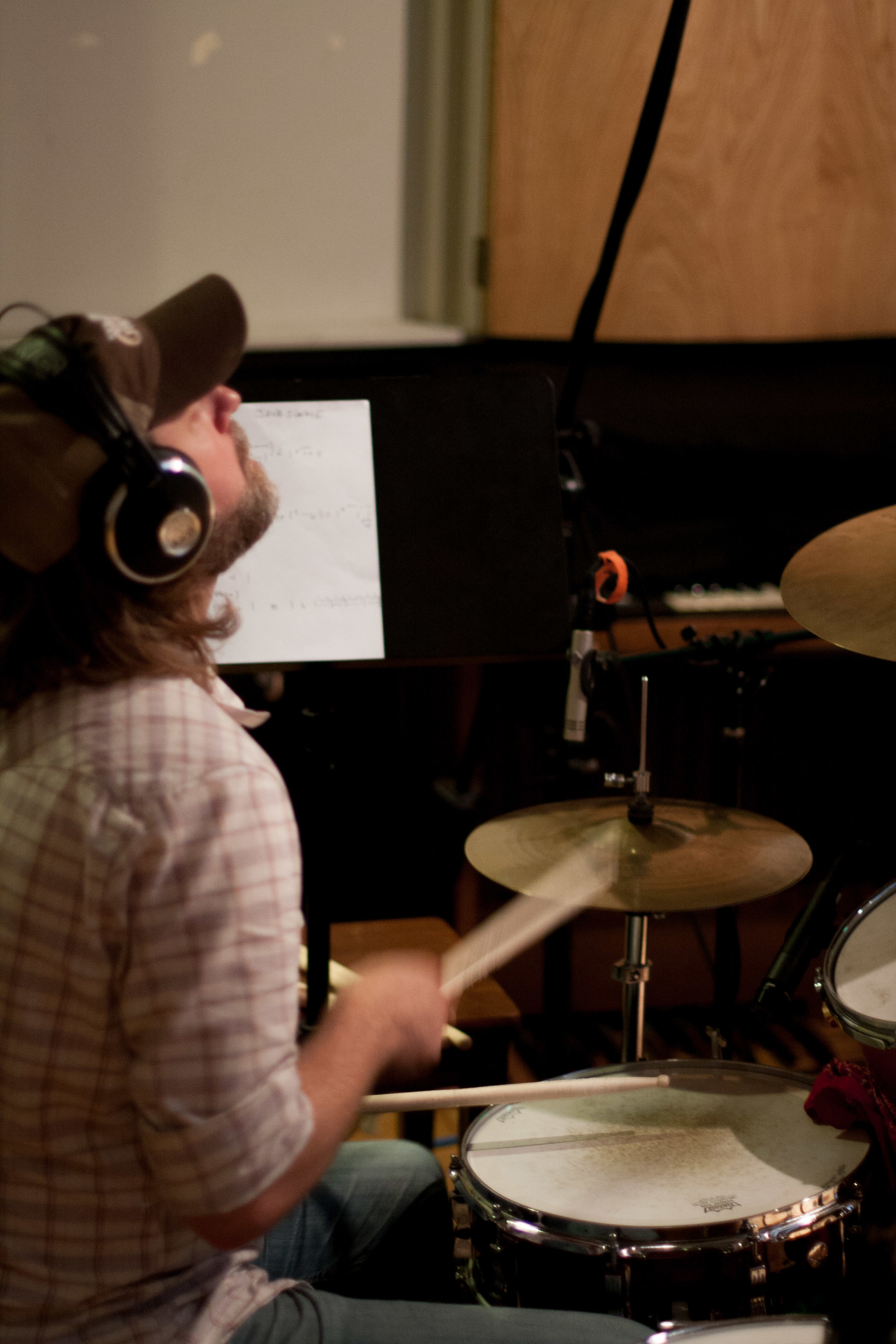 10.11.11-Recording drums and bass for Java Junkie