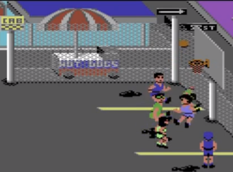 1987 Street Sports Basketball, Commodore 64, Epyx.png