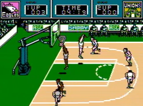 1990 Ultimate Basketball, NES, AicomAmerican Sammy.png