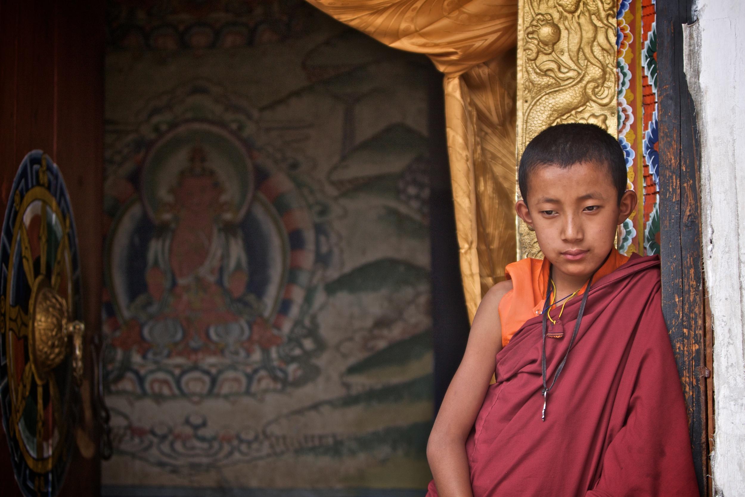 A monk at Wangdue Dzong.jpg