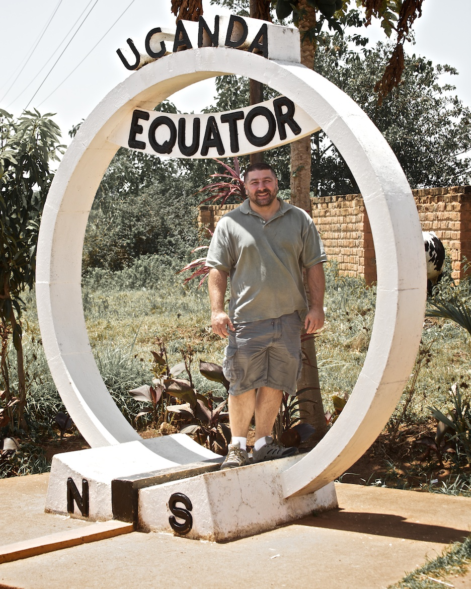Standing at the equator