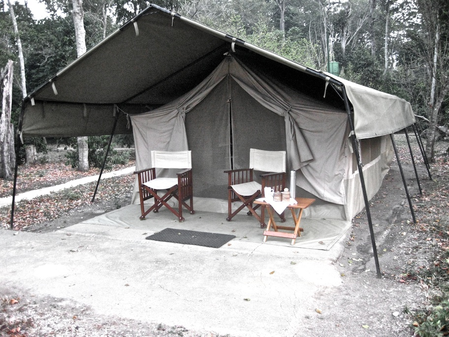 Our tent in Ishasha