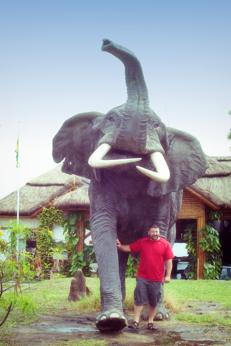 front of Mweya Lodge